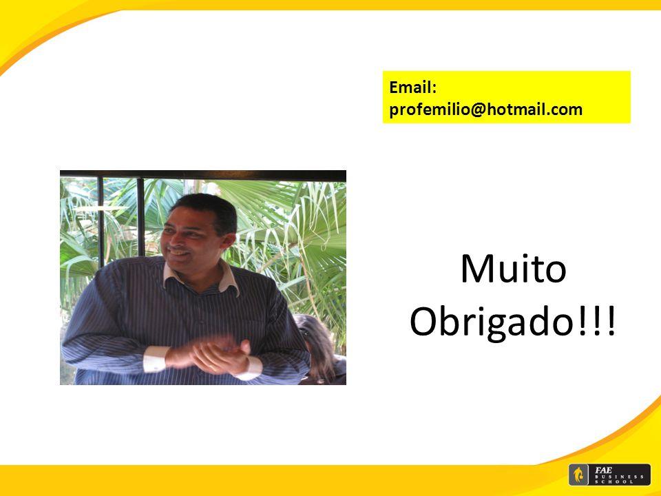Email: profemilio@hotmail.com Muito Obrigado!!!