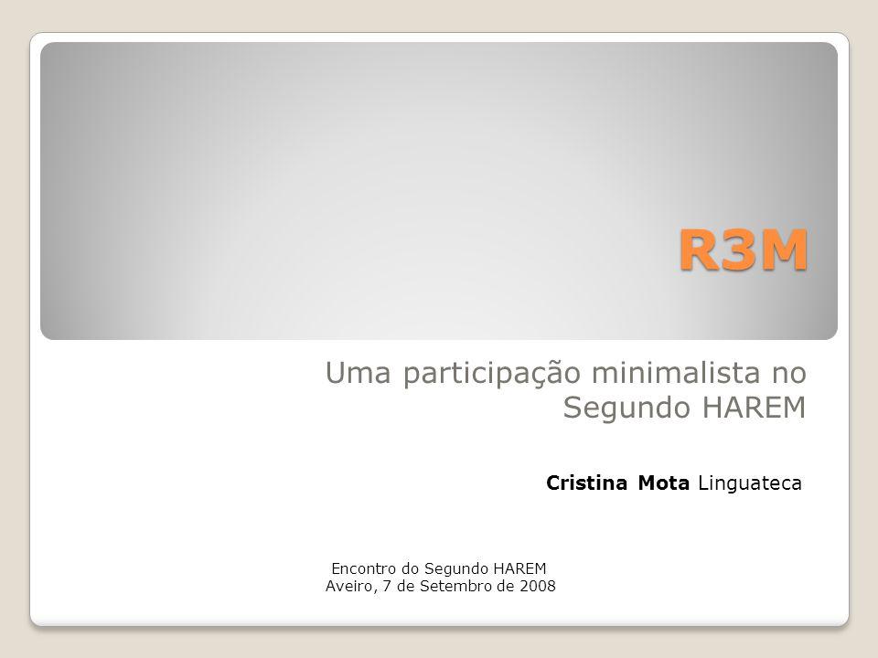 Uma participação minimalista no Segundo HAREM