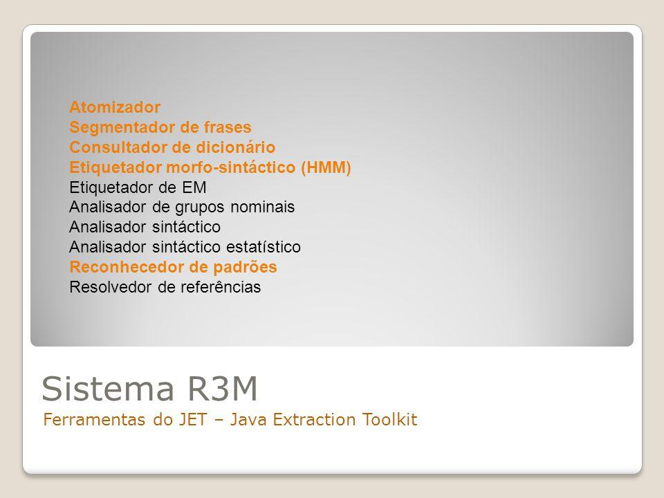 Sistema R3M Atomizador Segmentador de frases Consultador de dicionário