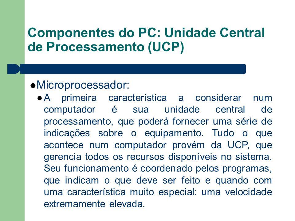 Componentes do PC: Unidade Central de Processamento (UCP)