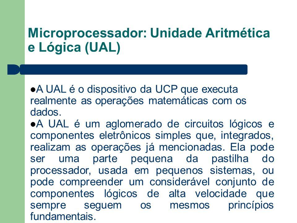 Microprocessador: Unidade Aritmética e Lógica (UAL)