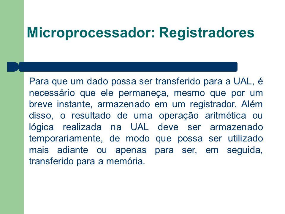 Microprocessador: Registradores