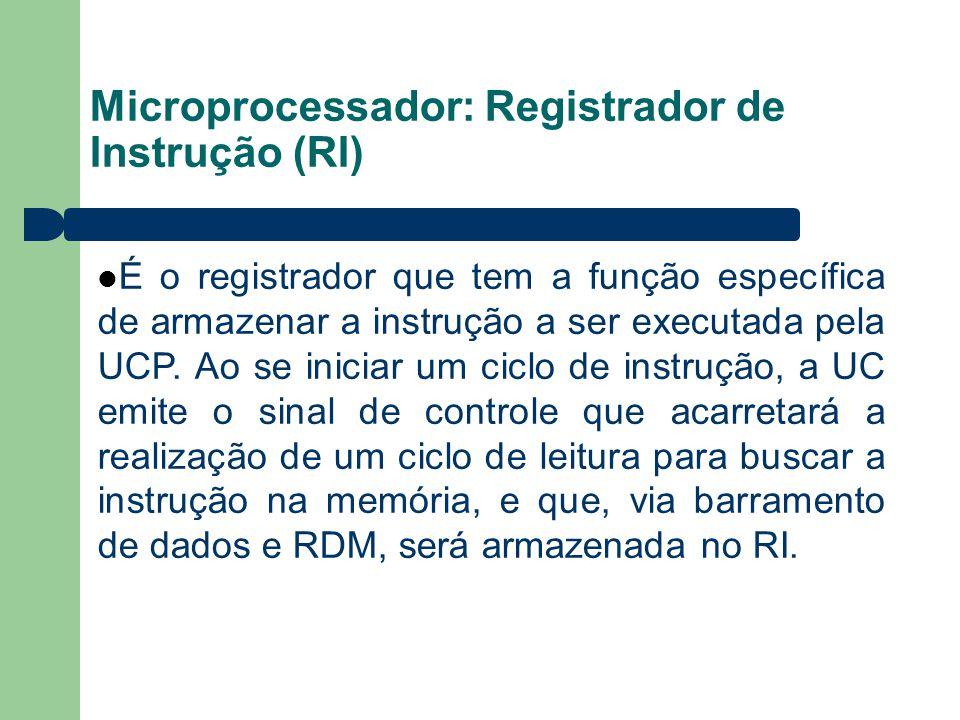 Microprocessador: Registrador de Instrução (RI)