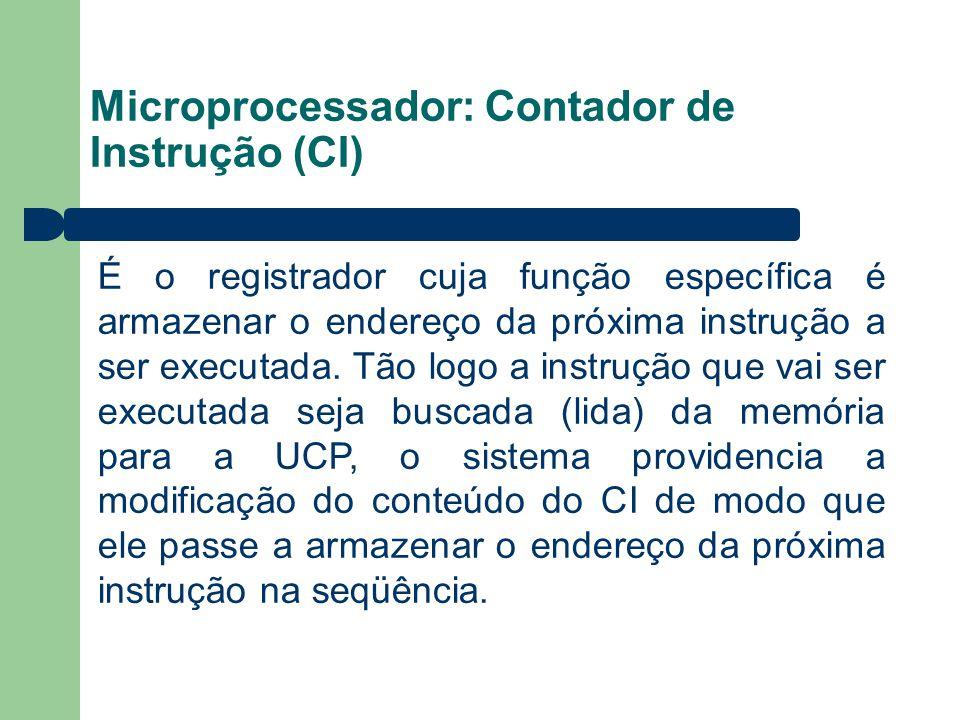 Microprocessador: Contador de Instrução (CI)