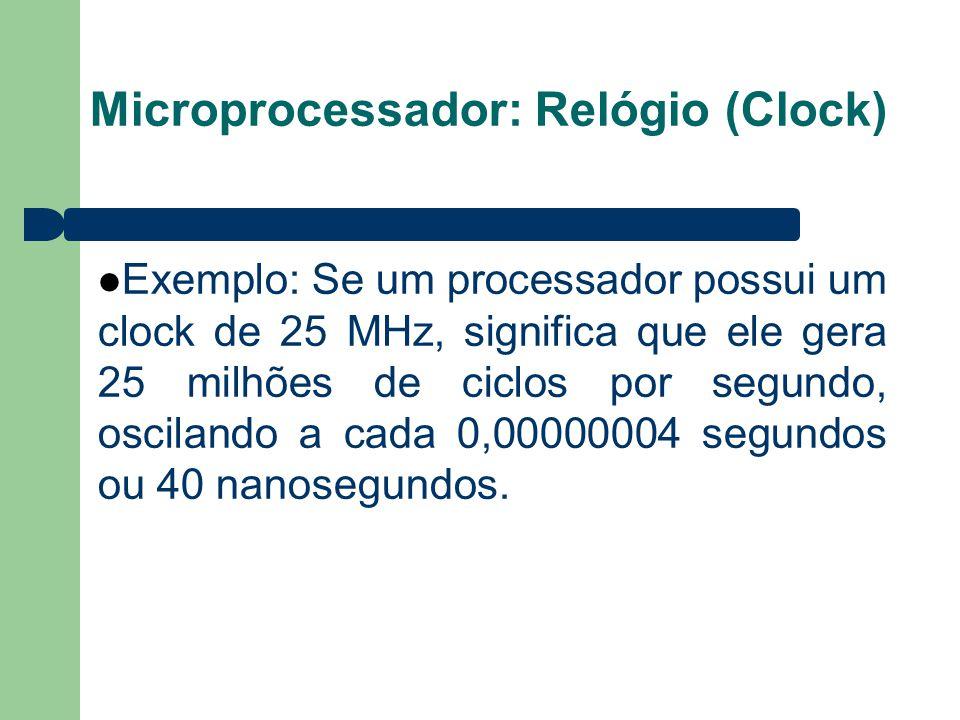 Microprocessador: Relógio (Clock)