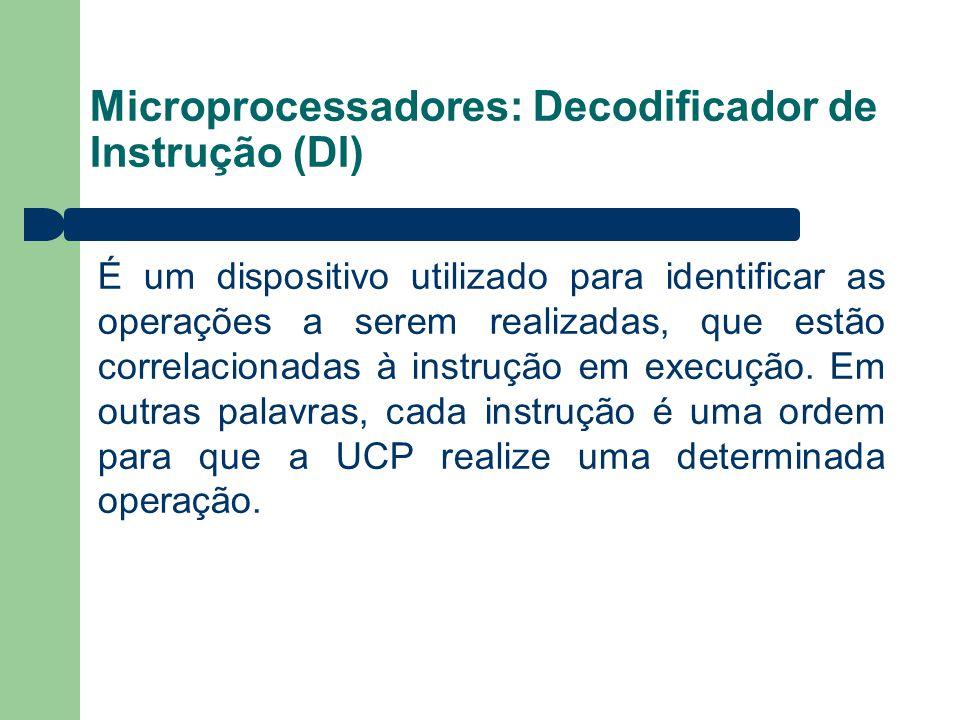 Microprocessadores: Decodificador de Instrução (DI)