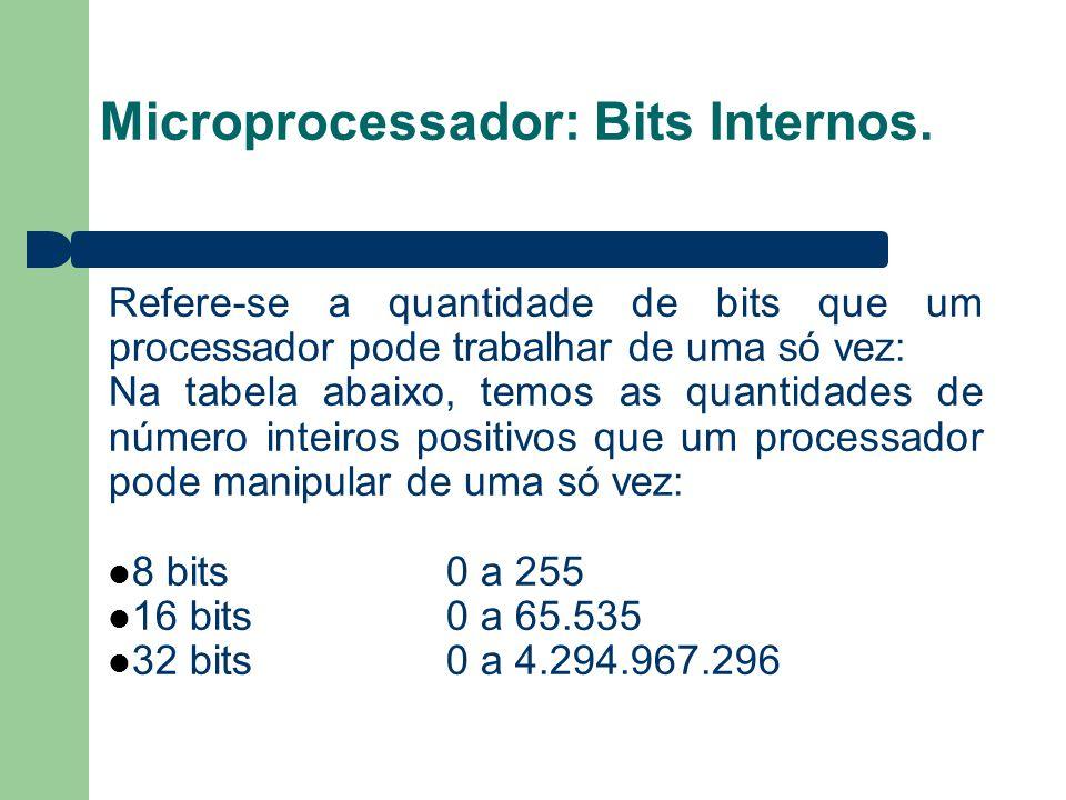 Microprocessador: Bits Internos.