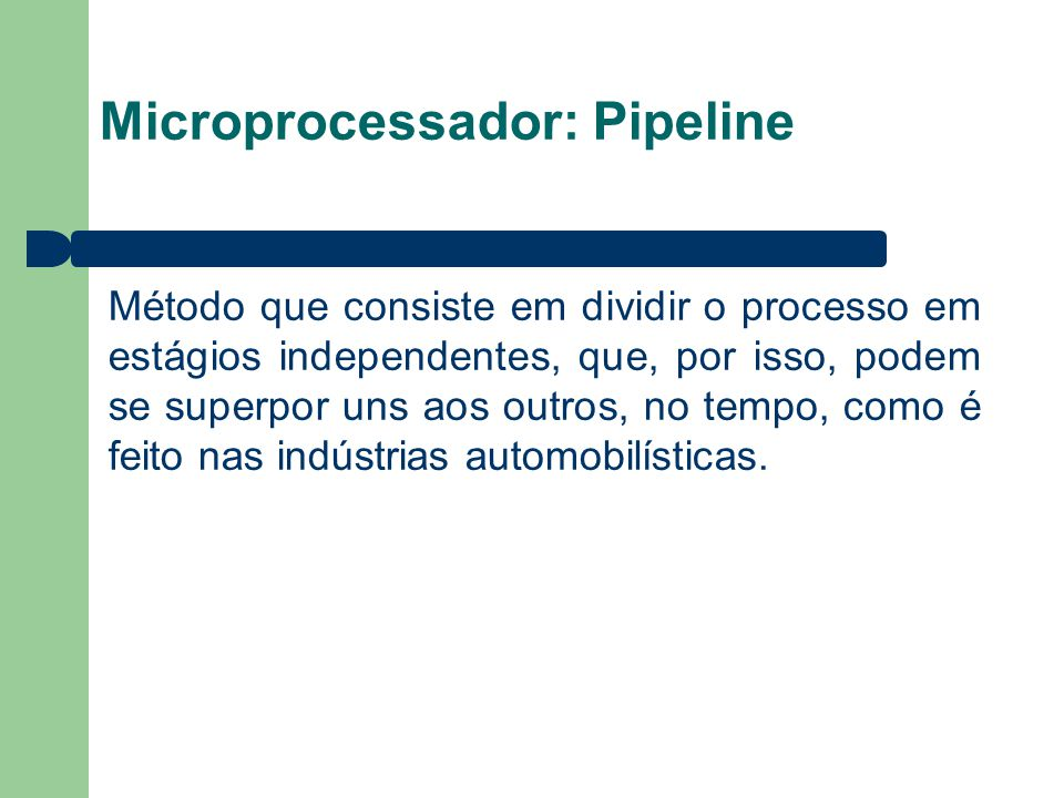 Microprocessador: Pipeline