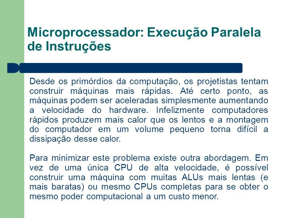 Microprocessador: Execução Paralela de Instruções