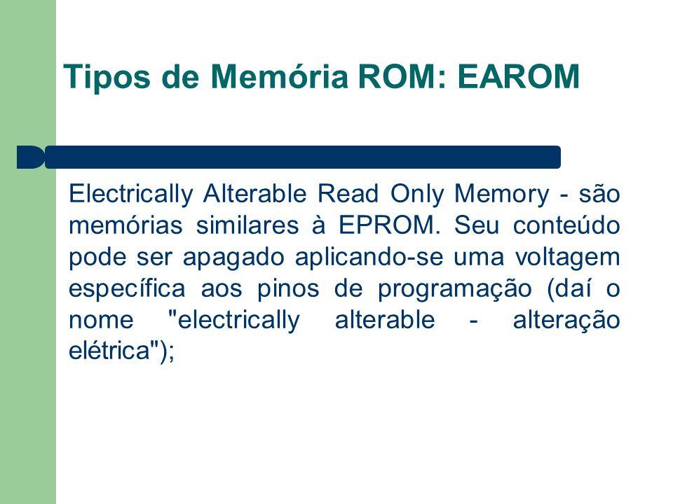 Tipos de Memória ROM: EAROM