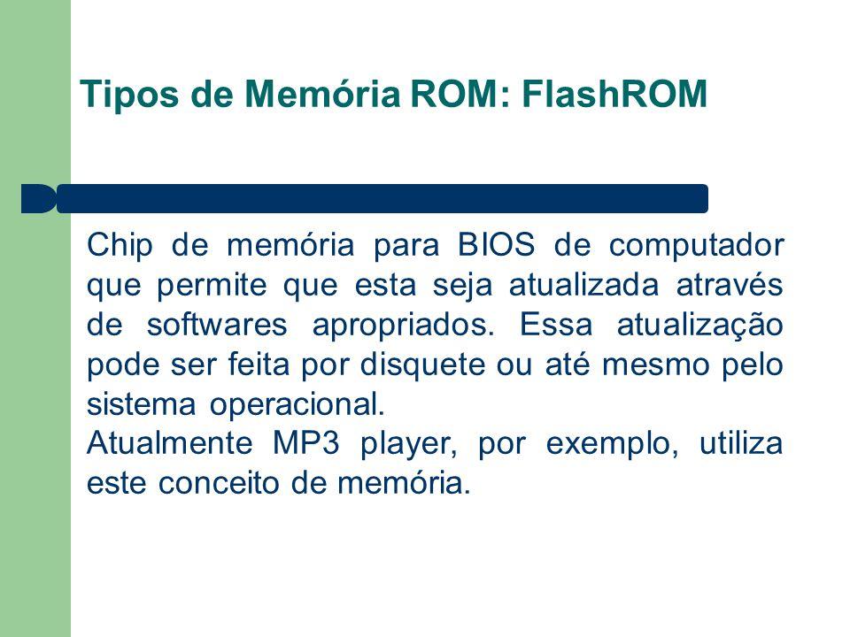 Tipos de Memória ROM: FlashROM