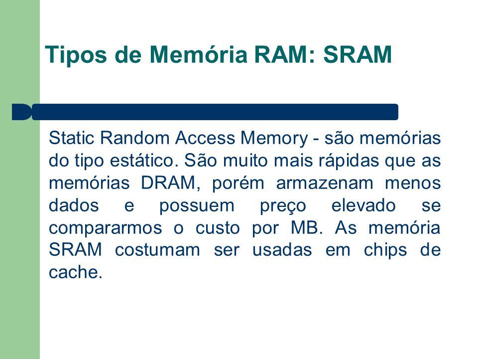 Tipos de Memória RAM: SRAM