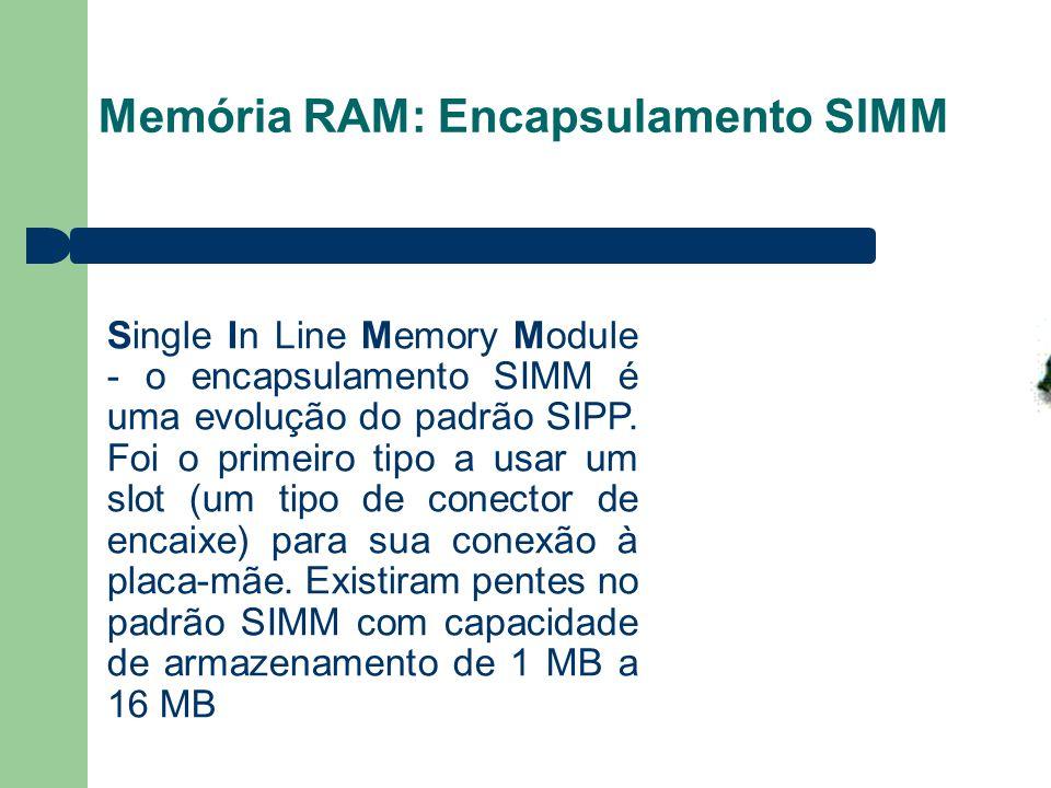 Memória RAM: Encapsulamento SIMM