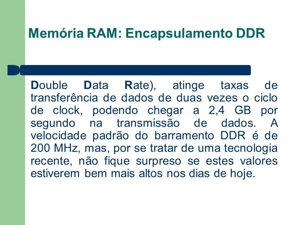 Memória RAM: Encapsulamento DDR