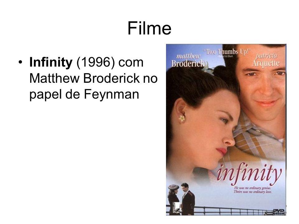 Filme Infinity (1996) com Matthew Broderick no papel de Feynman