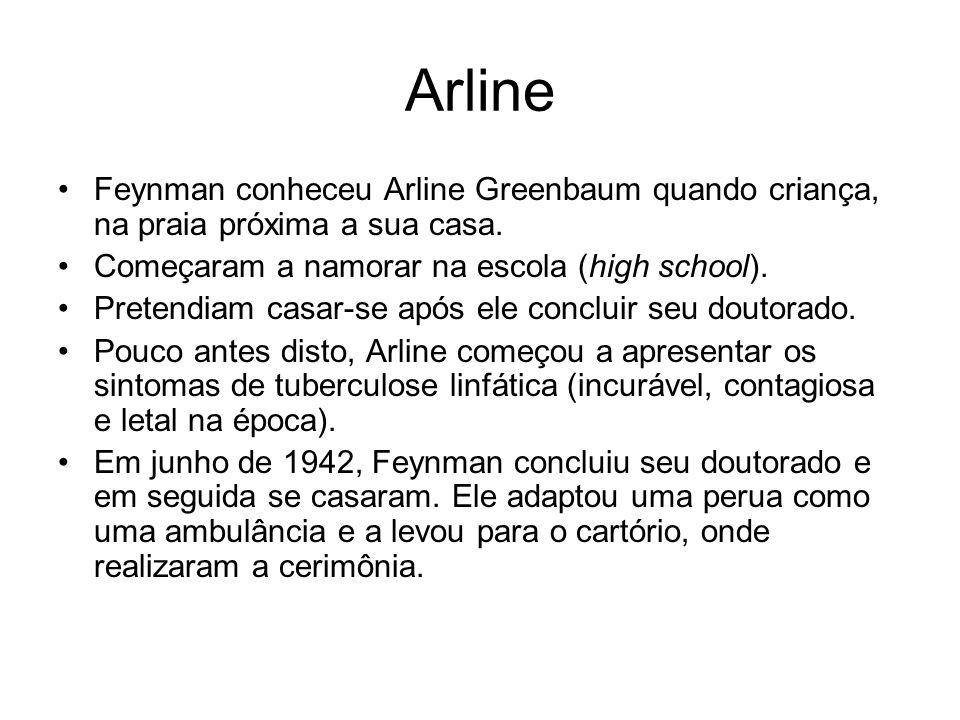 Arline Feynman conheceu Arline Greenbaum quando criança, na praia próxima a sua casa. Começaram a namorar na escola (high school).