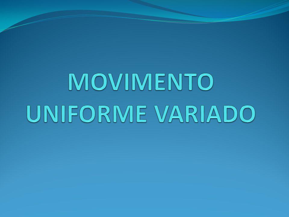 MOVIMENTO UNIFORME VARIADO