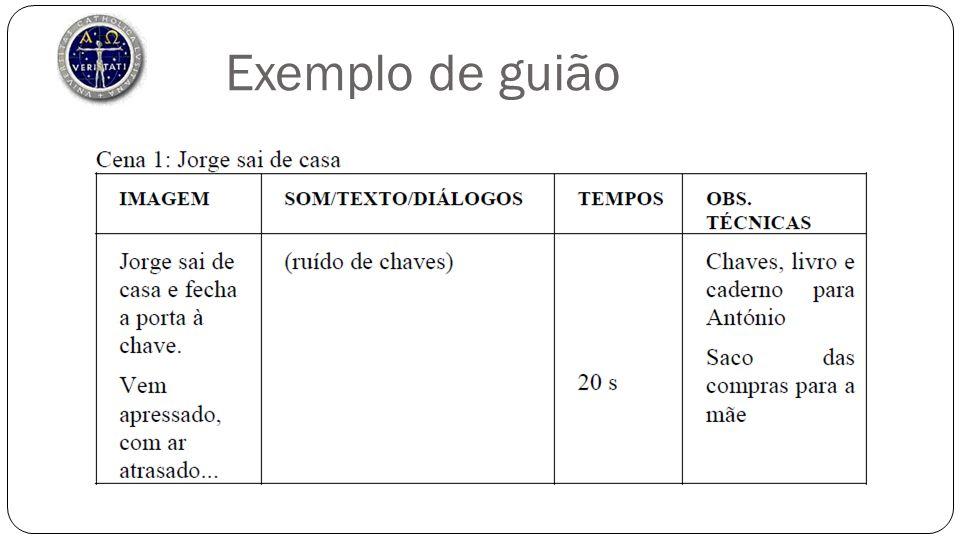 Exemplo de guião