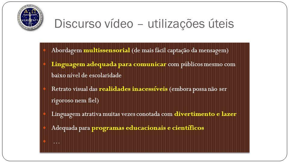 Discurso vídeo – utilizações úteis