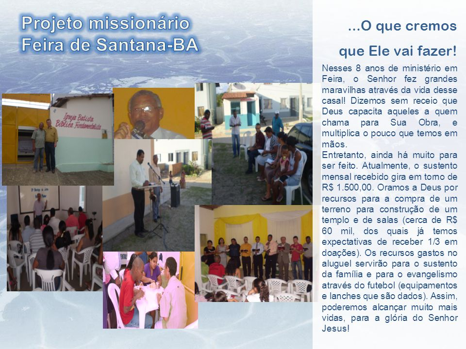 Projeto missionário Feira de Santana-BA