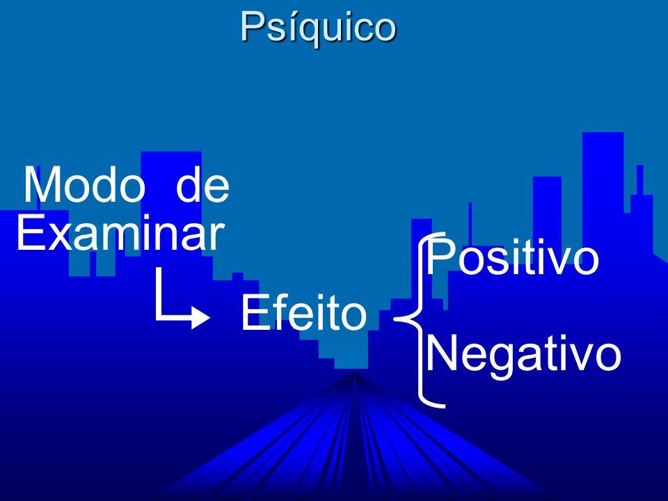 Psíquico Modo de Examinar Positivo Negativo Efeito