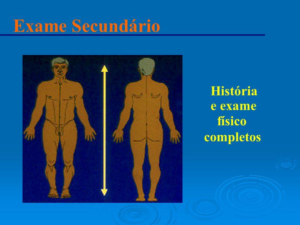 Exame Secundário História e exame físico completos