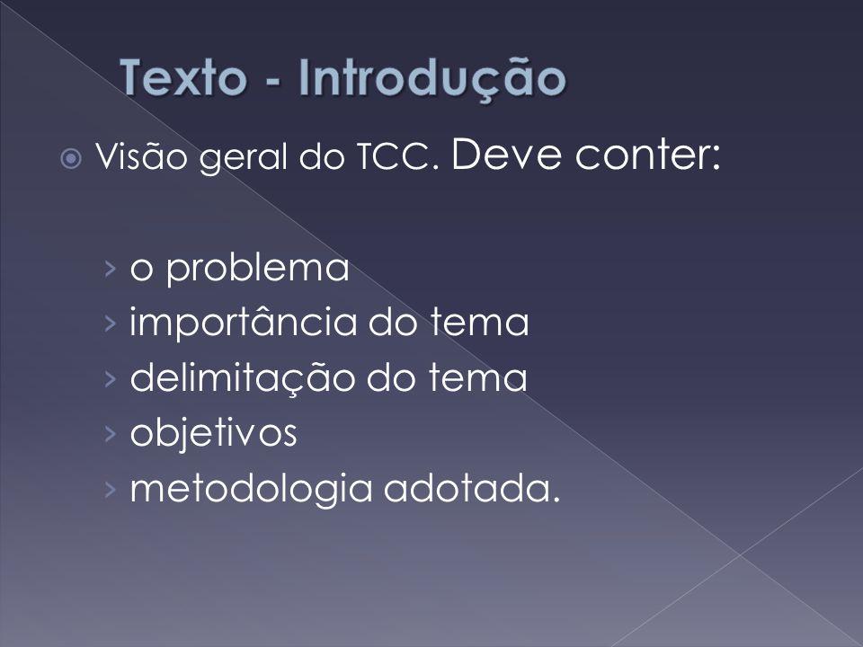 Texto - Introdução o problema importância do tema delimitação do tema