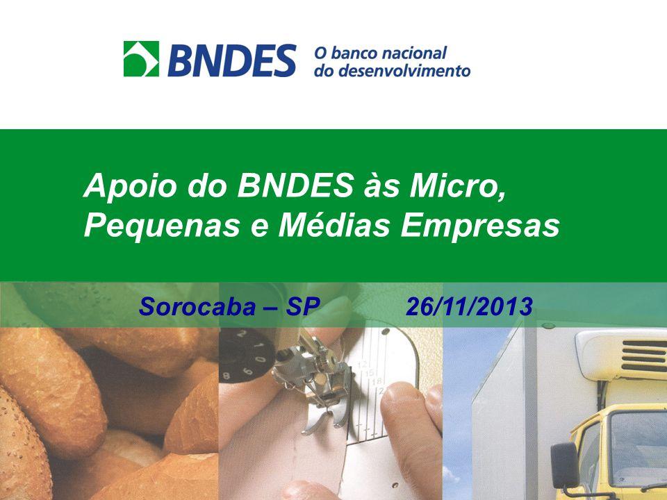 Apoio do BNDES às Micro, Pequenas e Médias Empresas