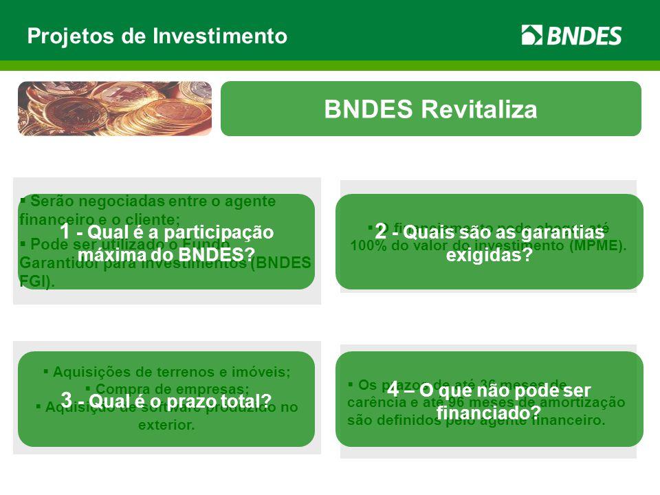 BNDES Revitaliza Projetos de Investimento