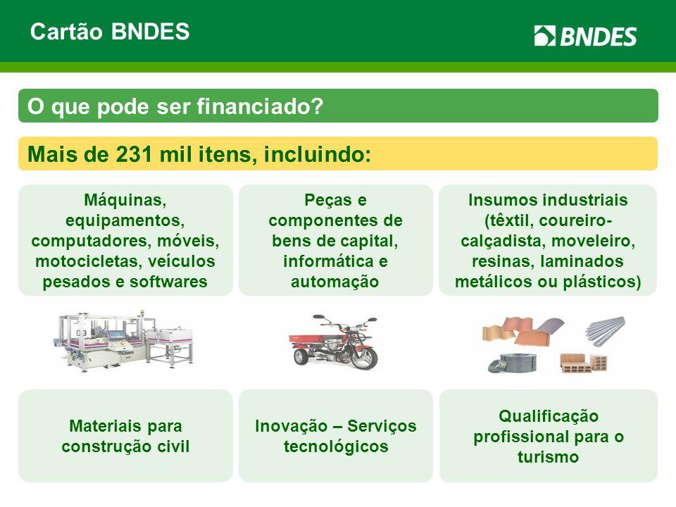 Cartão BNDES O que pode ser financiado