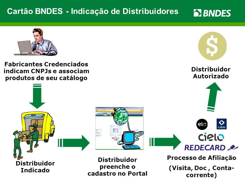 Cartão BNDES - Indicação de Distribuidores
