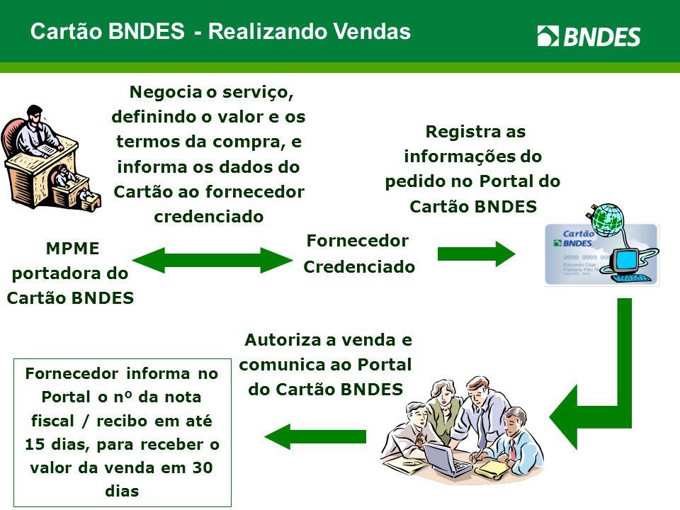 Cartão BNDES - Realizando Vendas