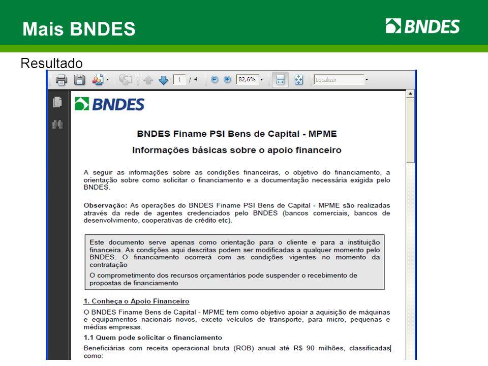 Mais BNDES Resultado