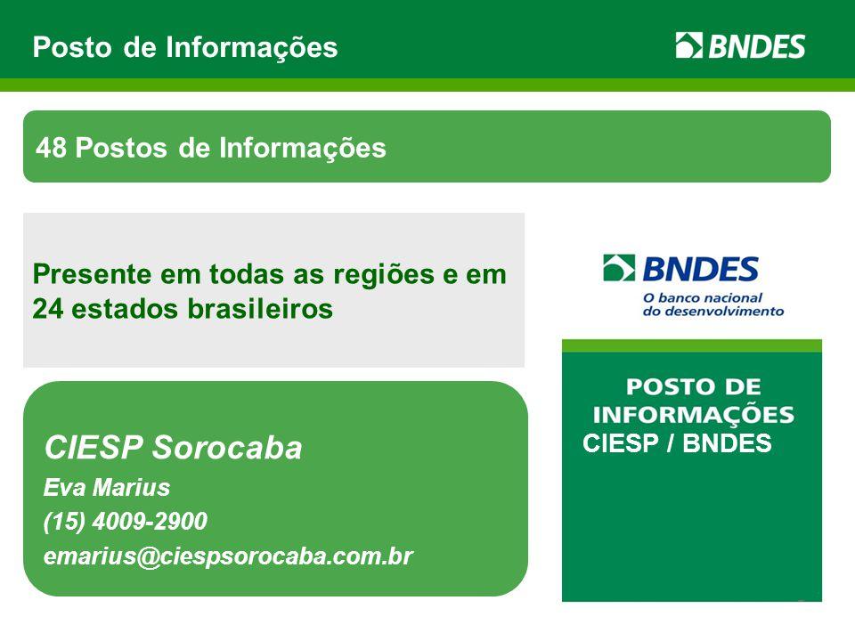 CIESP Sorocaba Posto de Informações 48 Postos de Informações