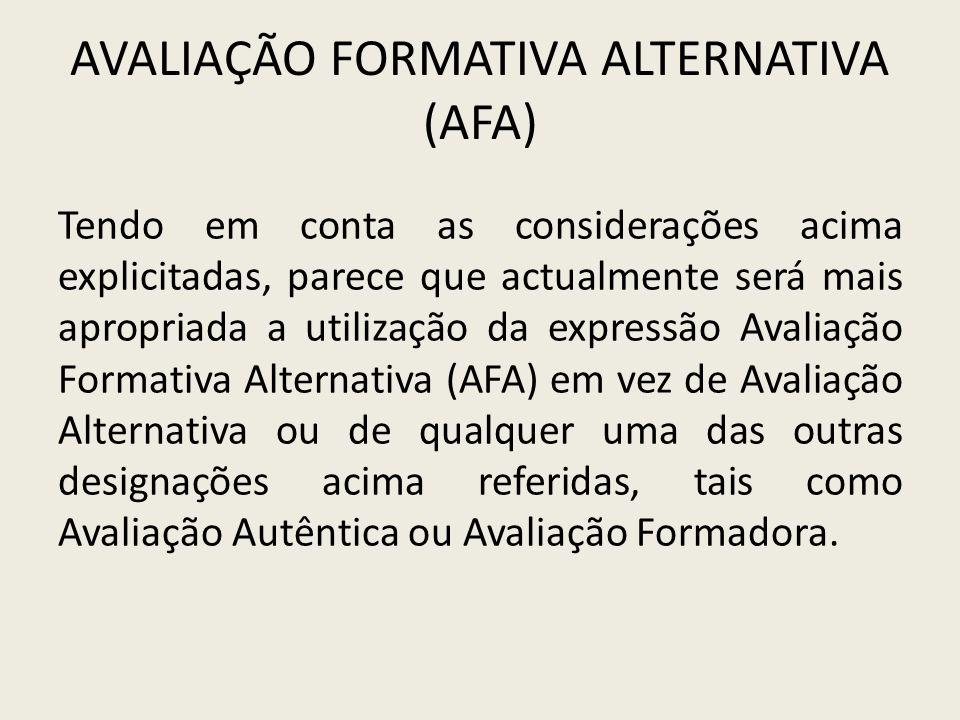 Avaliação Formativa Alternativa (AFA)