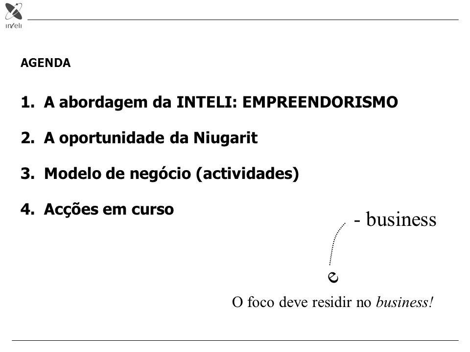 e - business A abordagem da INTELI: EMPREENDORISMO