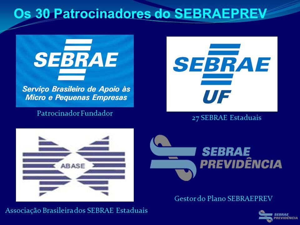 UF Os 30 Patrocinadores do SEBRAEPREV 27 SEBRAE Estaduais