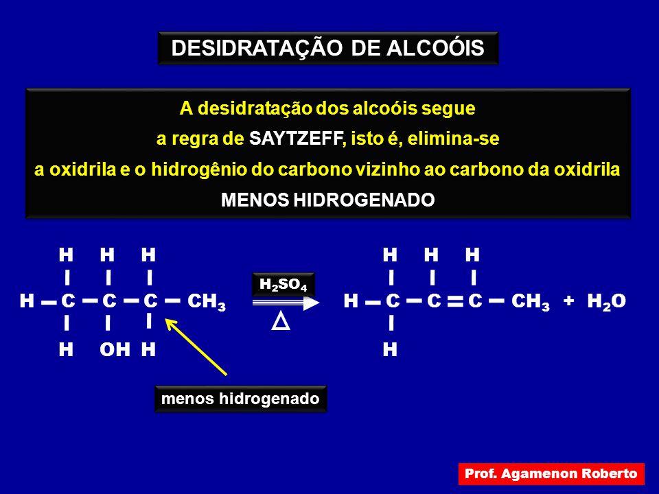 DESIDRATAÇÃO DE ALCOÓIS