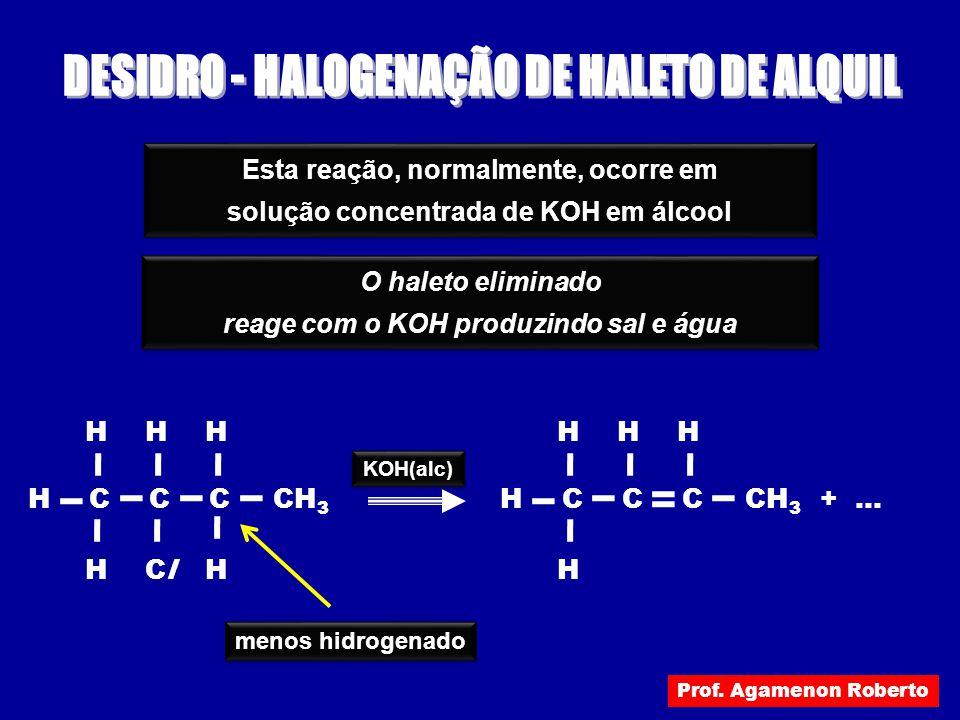 DESIDRO - HALOGENAÇÃO DE HALETO DE ALQUIL