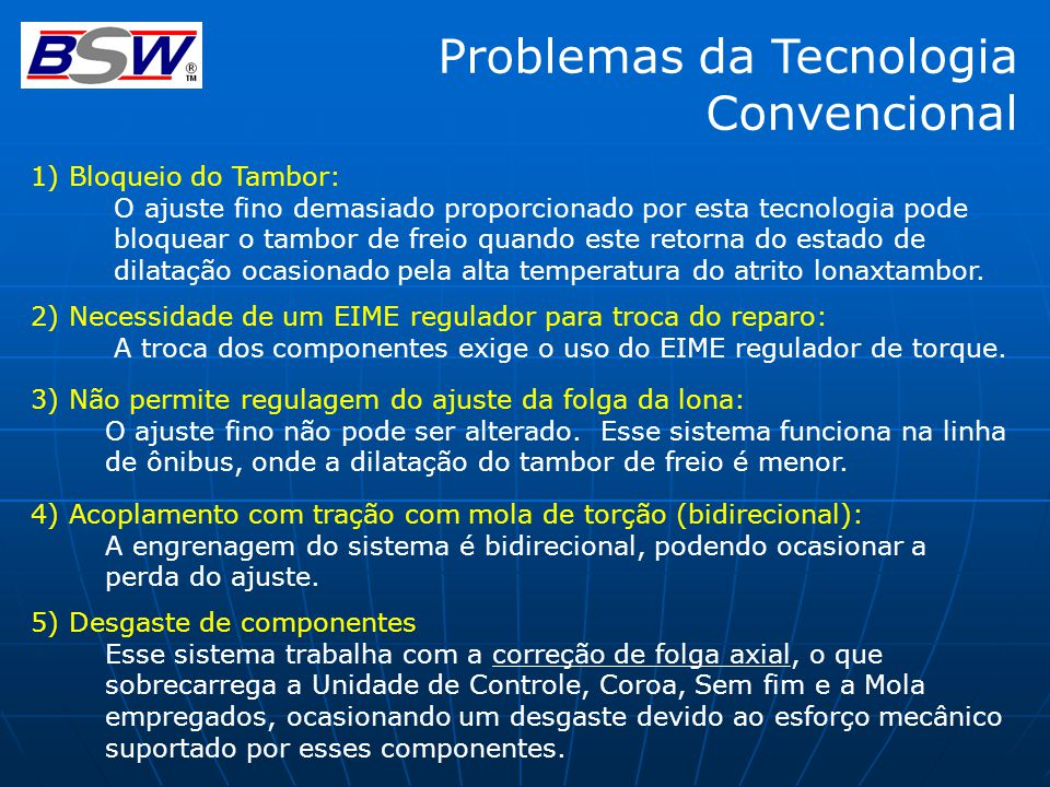 Problemas da Tecnologia Convencional