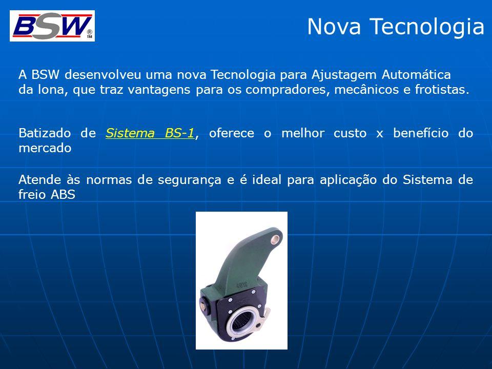 Nova Tecnologia A BSW desenvolveu uma nova Tecnologia para Ajustagem Automática.