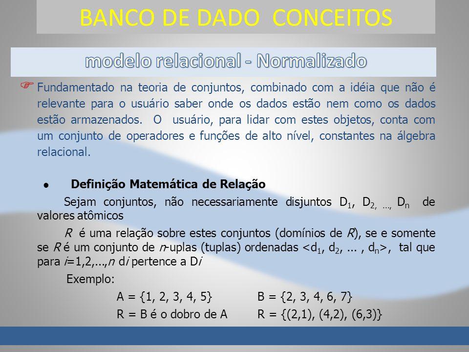 BANCO DE DADO CONCEITOS