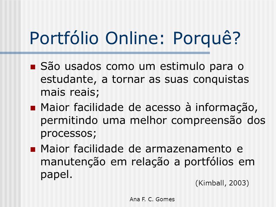 Portfólio Online: Porquê