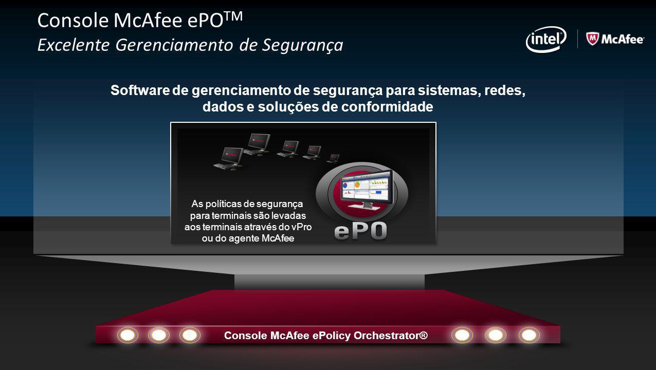 Console McAfee ePOTM Excelente Gerenciamento de Segurança