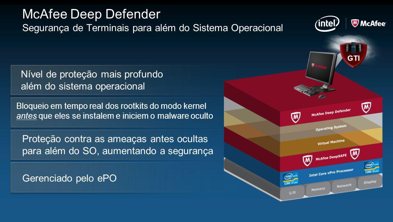 McAfee Deep Defender Segurança de Terminais para além do Sistema Operacional