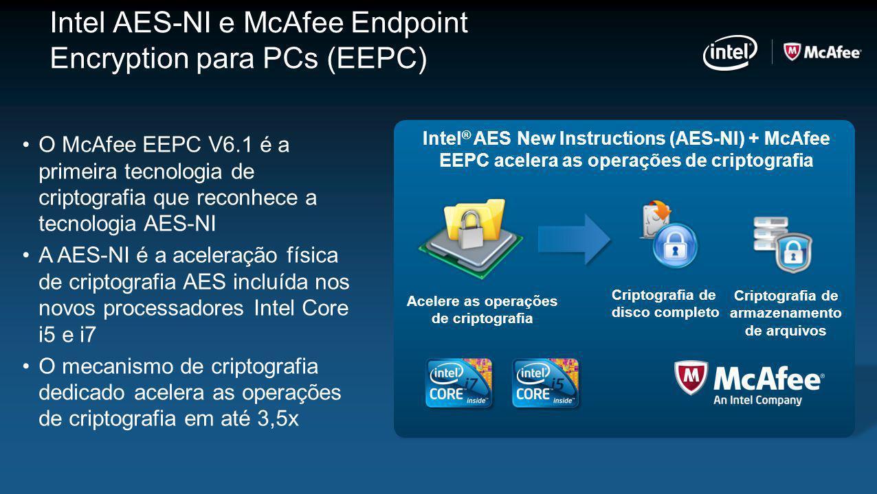 Intel AES-NI e McAfee Endpoint Encryption para PCs (EEPC)