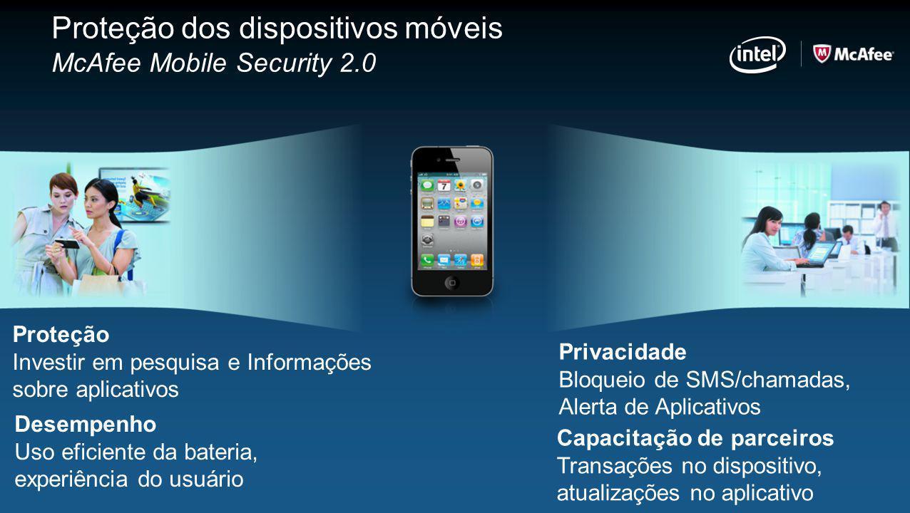 Proteção dos dispositivos móveis McAfee Mobile Security 2.0