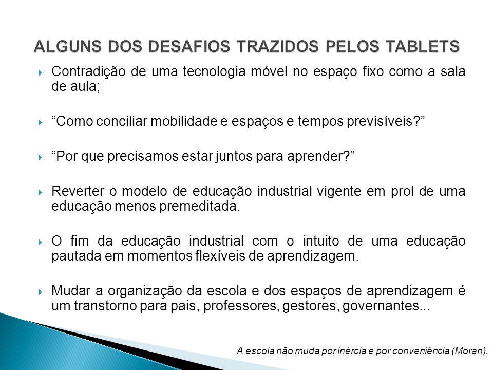 ALGUNS DOS DESAFIOS TRAZIDOS PELOS TABLETS