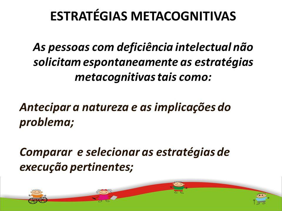ESTRATÉGIAS METACOGNITIVAS