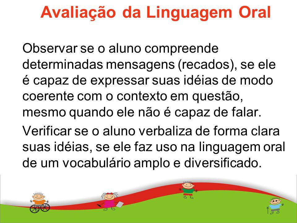 Avaliação da Linguagem Oral
